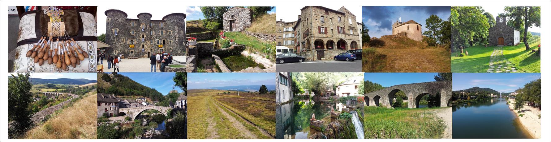 Le Puy en Velay, Le Monastier sur Gazeille, le Bouchet St Nicolas, Pradelles, Cheylard l'évêque, la Bastide Puylaurent, le Bleymard, le Finiels, Florac, St Jean du Gard et Alès.